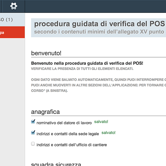 procedura guidata di verifica del POS